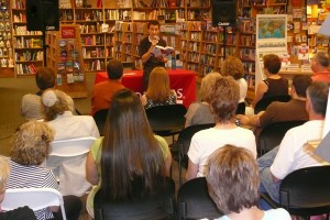 Bill reads at Borders in Fairfield, CT